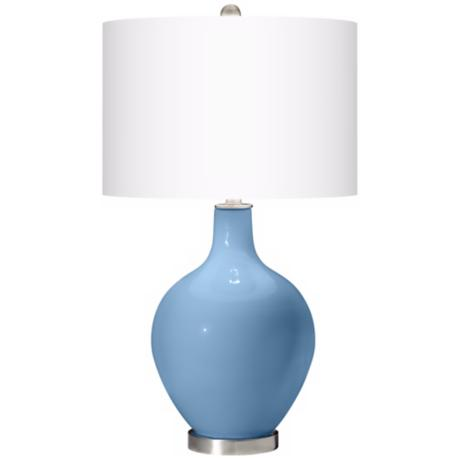 Dusk Blue Ovo Table Lamp