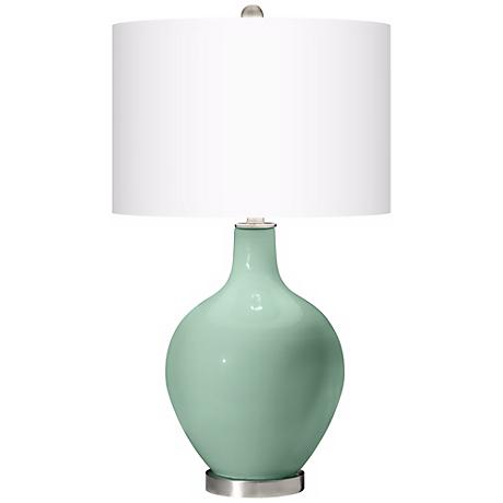 Grayed Jade Ovo Table Lamp