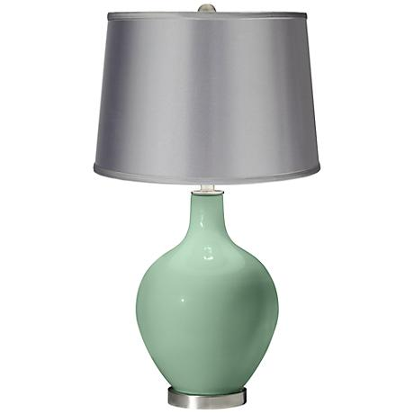 Grayed Jade - Satin Light Gray Shade Ovo Table Lamp