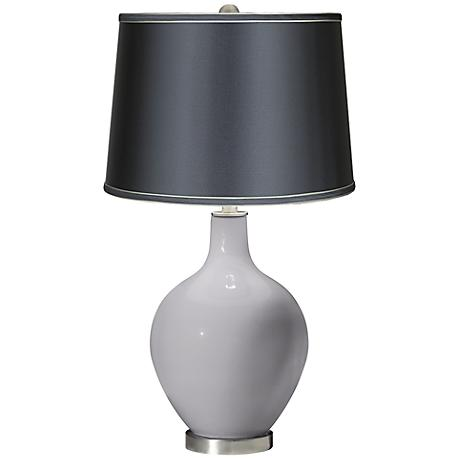 Swanky Gray - Satin Dark Gray Shade Ovo Table Lamp