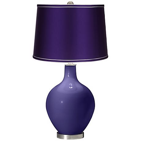 Valiant Violet - Satin Purple Shade Ovo Table Lamp