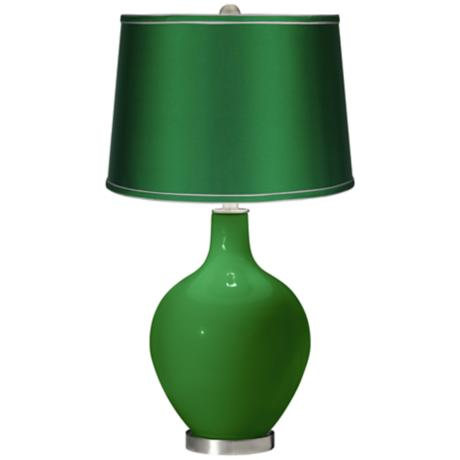 Envy - Satin Emerald Shade Ovo Table Lamp