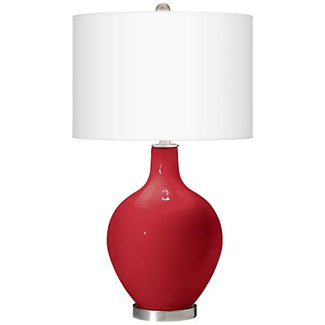 Ribbon Red Ovo Table Lamp