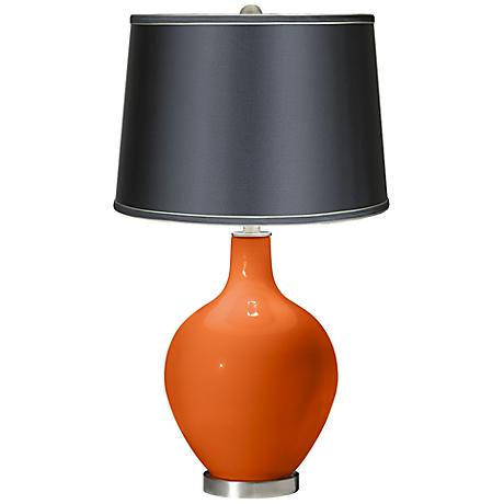 Invigorate - Satin Dark Gray Shade Ovo Table Lamp