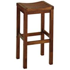 "Oak 29"" High Bar Stool"