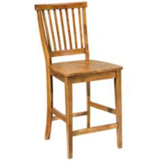Arts and Crafts Cottage Oak Bar Stool