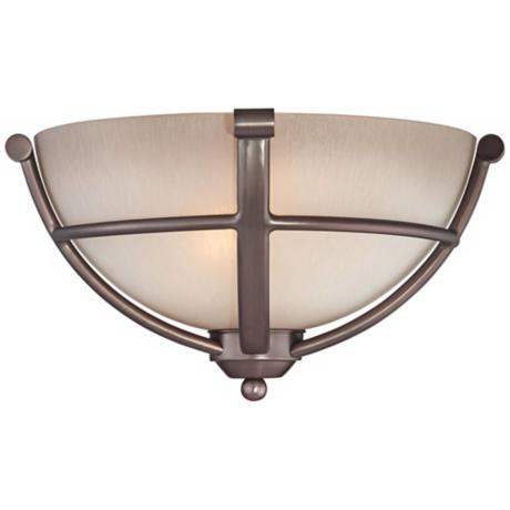 "Paradox Bronze 13"" Wide Pocket Wall Sconce"