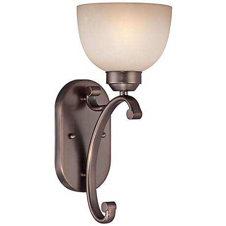 "Paradox 15"" High Bronze Finish Wall Sconce"