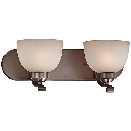 "Paradox 18"" Wide Bronze Bathroom Light Fixture"
