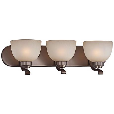"Paradox 24"" Wide Bronze Bathroom Light Fixture"
