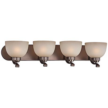 "Paradox 30"" Wide Bronze Bathroom Light Fixture"