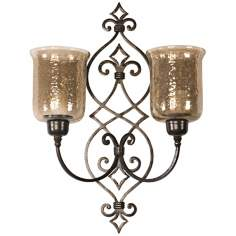 Uttermost Sorel Double Candle Wall Sconce