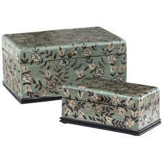 Uttermost Set of 2 Aciano Hand-Painted Floral Boxes
