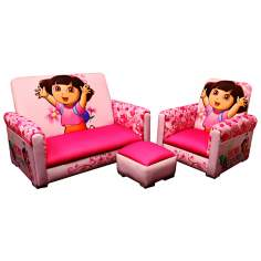 Dora the Explorer Toddler Sofa Chair and Ottoman Set