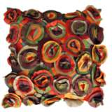 "Blossom Bold 22"" Square Hand-Made Accent Pillow"