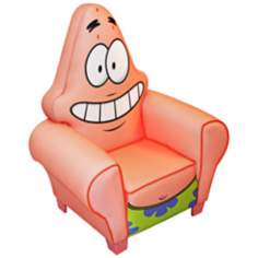 Nickelodeon Patrick from Sponge Bob Icon Chair