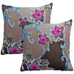 "Set of 2 Chloe 20"" Down Throw Pillows"