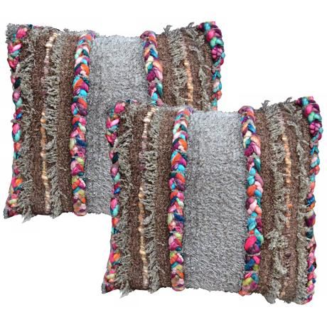 "Set of 2 Desert Confetti 20"" Down Throw Pillows"