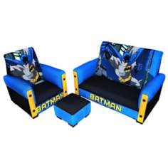 Batman Toddler Sofa Chair and Ottoman Set