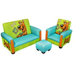 Scooby Doo Toddler Sofa Chair and Ottoman Set