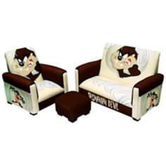 TAZ Tasmanian Devil Toddler Sofa Chair and Ottoman Set