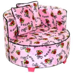 Tween Minky Pink Heart Tattoo Redondo Chair