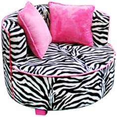 Tween Minky Zebra Redondo Chair