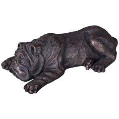 Uttermost Nap Time Cast Iron Puppy Sculpture