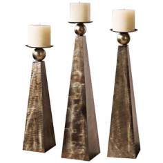 Set of 3 Uttermost Cesano Candle Holders