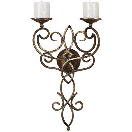 Uttermost Zemel Wall-Mount Candle Holder Sconce