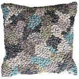 "Knots Icicle 22"" Square Hand-Made Accent Pillow"