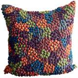 "Knots Bright 22"" Square Hand-Made Accent Pillow"