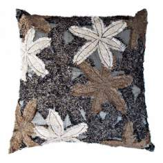 "Reef Black 22"" Square Hand-Made Accent Pillow"