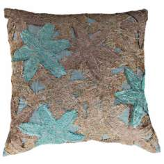 "Reef Pastel 22"" Square Hand-Made Accent Pillow"