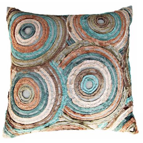 "Retro Pastel 22"" Square Hand-Made Accent Pillow"