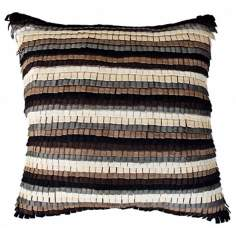 "Tabs Black 22"" Square Down Insert Accent Pillow"