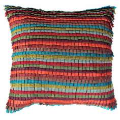 "Tabs Bright 22"" Square Down Insert Accent Pillow"