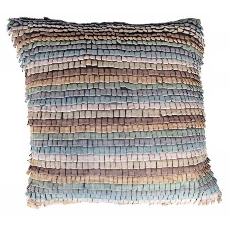 "Tabs Pastel 22"" Square Down Insert Accent Pillow"