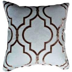 "Taza Slate 20"" Square Linen Accent Pillow"