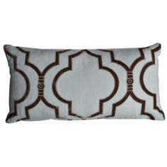 "Taza Slate 20"" Wide Linen Accent Pillow"