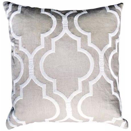 "Taza Natural 20"" Square Linen Accent Pillow"