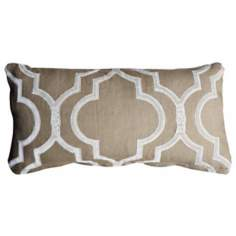 "Taza Natural 20"" Wide Linen Accent Pillow"