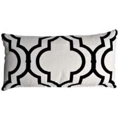 "Taza Tuxedo 20"" Wide Linen Accent Pillow"