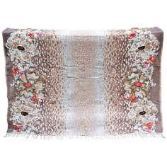 Jenna Brown Decorative Wool Throw Blanket