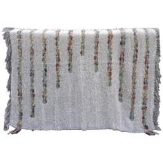 Kona Taupe Decorative Wool Throw Blanket