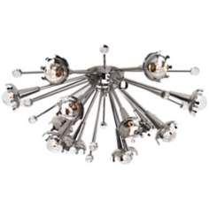 Jonathan Adler Sputnik Flush Mount Nickel Ceiling Light