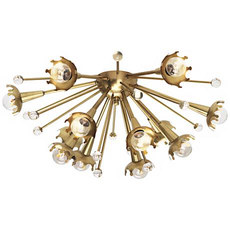 jonathan adler sputnik flush mount brass ceiling light. Black Bedroom Furniture Sets. Home Design Ideas