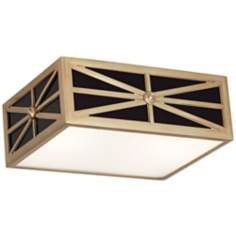 "Mary McDonald Directoire Black 12 1/4"" Brass Ceiling Light"