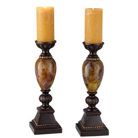 "Kathy Ireland Mulholland 16"" High Candle Holders Set of 2"