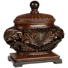 Possini Collection Decorative Brown Bowl with Lid